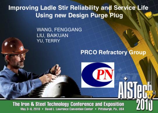 Improving Ladle Stir Reliability and Service Life Using New Design Purge Plug
